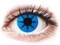 Farebné kontaktné šošovky - ColourVUE Crazy Lens - Blue Star - nedioptrické