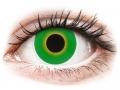 Farebné kontaktné šošovky - ColourVUE Crazy Lens - Hulk Green - nedioptrické