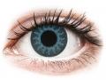 Farebné kontaktné šošovky - ColourVUE Crazy Lens - Solar Blue - dioptrické