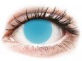 Farebné kontaktné šošovky - ColourVUE Crazy Glow Electric Blue - nedioptrické