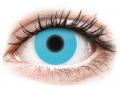 Farebné kontaktné šošovky - ColourVUE Crazy Glow Blue - nedioptrické