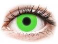 Farebné kontaktné šošovky - ColourVUE Crazy Glow Green - nedioptrické