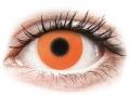 Farebné kontaktné šošovky - ColourVUE Crazy Glow Orange - nedioptrické