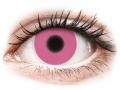 Farebné kontaktné šošovky - ColourVUE Crazy Glow Pink - nedioptrické