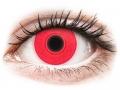 Farebné kontaktné šošovky - ColourVUE Crazy Glow Red - nedioptrické