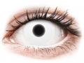 Farebné kontaktné šošovky - ColourVUE Crazy Glow White - nedioptrické