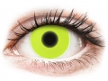 Farebné kontaktné šošovky - ColourVUE Crazy Glow Yellow - nedioptrické