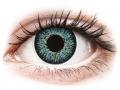 Farebné kontaktné šošovky - ColourVUE Glamour Aqua - dioptrické