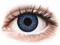 Farebné kontaktné šošovky - ColourVUE Glamour Blue - dioptrické