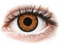 Farebné kontaktné šošovky - ColourVUE Glamour Honey - dioptrické