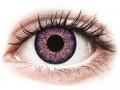 Farebné kontaktné šošovky - ColourVUE Glamour Violet - nedioptrické