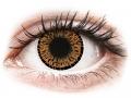Farebné kontaktné šošovky - ColourVUE Elegance Brown - nedioptrické