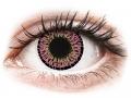 Farebné kontaktné šošovky - ColourVUE Elegance Pink - nedioptrické