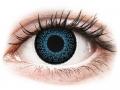 Farebné kontaktné šošovky - ColourVUE Eyelush Blue - nedioptrické