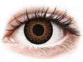 Farebné kontaktné šošovky - ColourVUE Eyelush Brown - nedioptrické