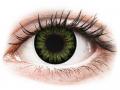 Farebné kontaktné šošovky - ColourVUE BigEyes Party Green - nedioptrické