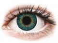 Farebné kontaktné šošovky - FreshLook ColorBlends Turquoise - nedioptrické