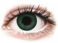 Farebné kontaktné šošovky - FreshLook Dimensions Carribean Aqua - dioptrické