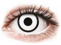 Farebné kontaktné šošovky - ColourVUE Crazy Lens - White Zombie - jednodenné nedioptrické