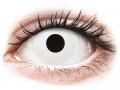 Farebné kontaktné šošovky - ColourVUE Crazy Lens - Whiteout - jednodenné nedioptrické