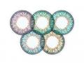 Farebné kontaktné šošovky - ColourVue One Day TruBlends Rainbow 2 - nedioptrické