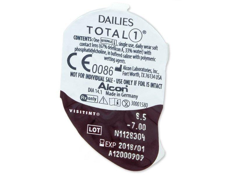 3912cfd52 Kontaktné šošovky Dailies TOTAL1 (90 šošoviek) od 64.39 €