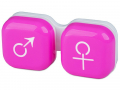Puzdra a ostatné - Puzdro na šošovky muž a žena - ružové