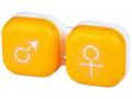 Puzdra a ostatné - Puzdro na šošovky muž a žena - žlté