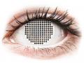 Farebné kontaktné šošovky - ColourVUE Crazy Lens - White Screen - nedioptrické