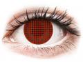 Farebné kontaktné šošovky - ColourVUE Crazy Lens - Red Screen - nedioptrické
