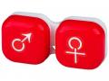 Puzdra a ostatné - Puzdro na šošovky muž a žena - červené