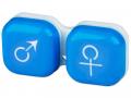Puzdra a ostatné - Puzdro na šošovky muž a žena - modré