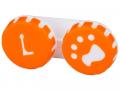 Puzdra a ostatné - Puzdro na šošovky Labka - oranžové