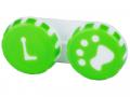 Puzdra a ostatné - Puzdro na šošovky Labka - zelené