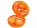 Puzdra a ostatné - Kazeta s ornamentom - oranžová