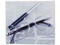 Puzdra a ostatné - Čistiaca handrička na okuliare - noviny a okuliare