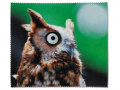 Puzdra a ostatné - Čistiaca handrička na okuliare - sova