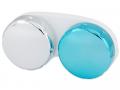 Puzdra a ostatné - Zrkadlové puzdro na šošovky - modré